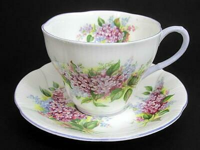 Royal Albert Blossom Time Series Lilac Tea Teacup Cup & Saucer c1966