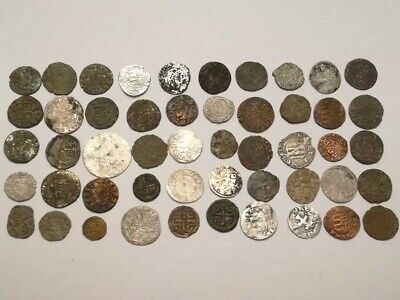 Lot of 50 medieval great coins, 12-18 century, Germany, Hungary, Austria, Otoman