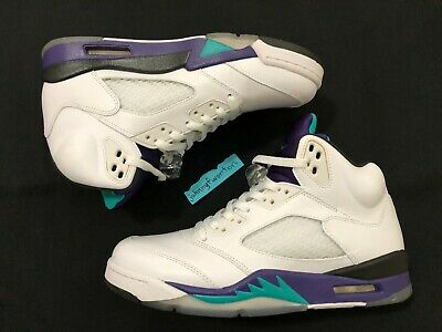 wholesale dealer 09267 8462a AIR JORDAN 5 Retro Grape sz 9 136027-108 emerald nike purple v 2013 fresh  prince -  155.00   PicClick