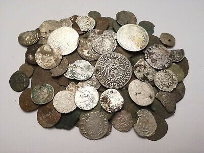 Lot 145 medieval coins, silver and bronze,Hungary, Poland, Germany, Ottoman....