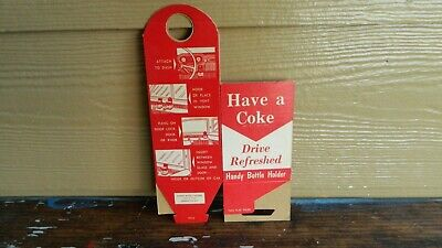 Vintage Pre 1960's Coca-Cola Cardboard Handy Bottle Holder Never Used Coke Pop