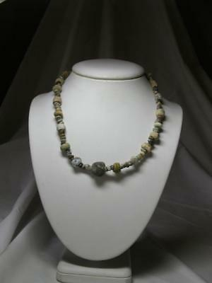 Authentic Ancient Roman Glass Bead Necklace 2000 Years Old 100 BC- AD 100