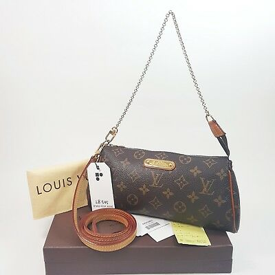 855cbb756a014 Auth Louis Vuitton Eva Clutch Monogram M95567 Shoulder Cross Bag Guarantee  LB545