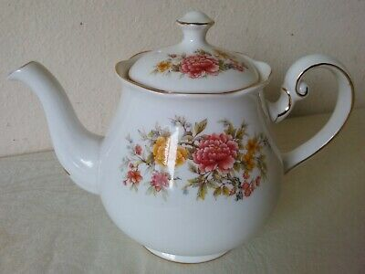 Colclough Bone China Floral Tea Pot Made in England