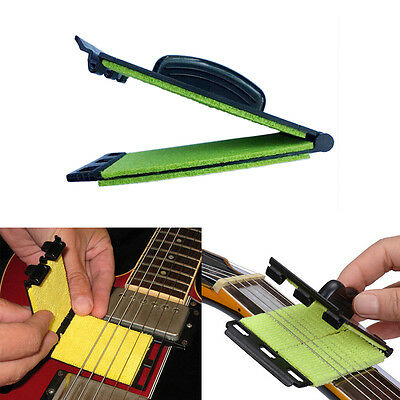 Guitar Bass String Scrubber Cleaning Electric Instrument Body Care Cleaner To LD