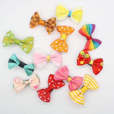 10x Kid Baby Girl's Bow Ribbon Hair Bow Mini Latch Clamp Hair Clip Hairpins Gift