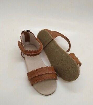 Toddler Shoes Tan Leather Open Toe Sandals Size 9