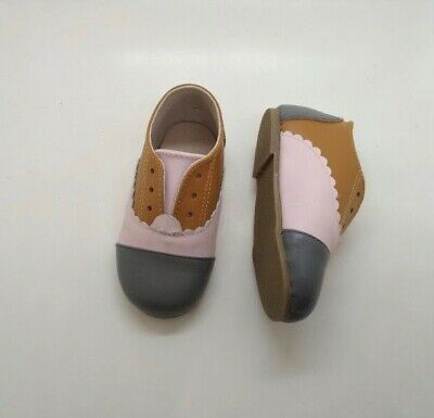 Toddler Leather Shoes Tri-colour Oxfords Size 6