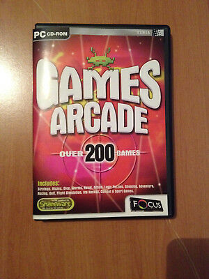 Games Arcade Over 200 Games On Cd Ideal For Older Computers - Windows 95 To Xp