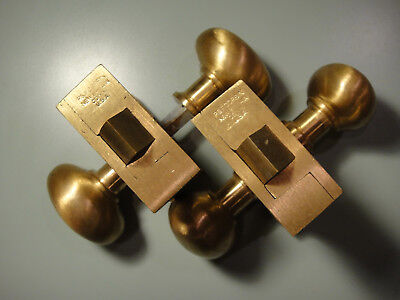 Solid Cast Brushed Brass Door Set with Oval Knobs