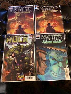 Immortal Hulk Set Of 4 ! # 1 Midtown NYC Variant ! 2 3rd Prnt & # 14 X2 ! NM+/M