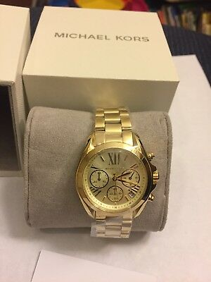 dfcaac2b8eb Michael Kors Mk5798 Womens Mini Bradshaw Watch Gold Color Brand New Usa