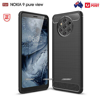 Nokia 9 PureView Case, Slim Armor Shockproof TPU Brushed Heavy Duty Cover