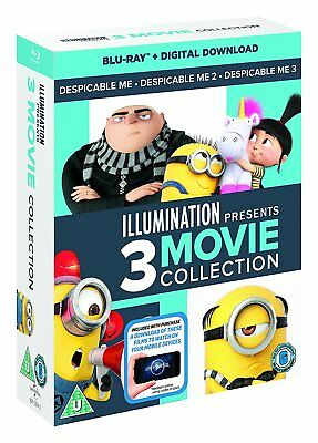 Despicable Me Trilogy Collection - Movies 1 2 3 (Blu-ray, 3 Discs, Region Free)
