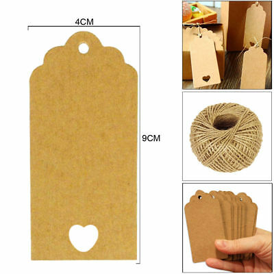 BUY 100x Craft Tags Label Paper FREE 2pc Cute Pencil Box for Kids NEW