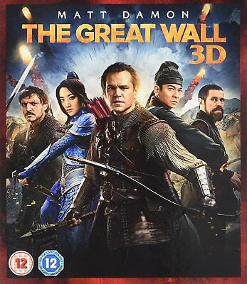 The Great Wall (3D + 2D Blu-ray, 2 Discs, Region Free) *NEW/SEALED*