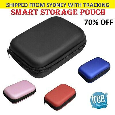 Waterproof Carrying Hard Case Headset Earphone Earbud Usb Cable Zipped Pouch Bag