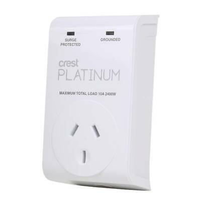 Crest Platinum 1 Socket Device Protector For Fridges And W Machines