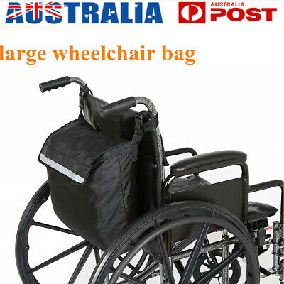 AU Wheelchair Storage Bag Fits Most Scooters, Walkers,Electric Wheelchairs Black