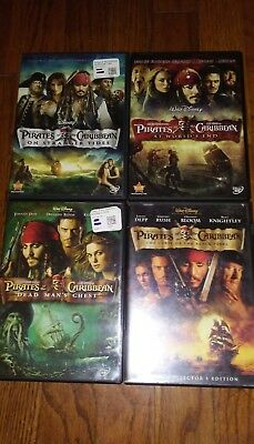 Pirates of the Caribbean: Four-Movie Collection (ALL Dvd)