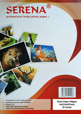 INKJET PHOTO PRINTING PAPER A3 DUO GLOSS PACKS OF 25 ICE