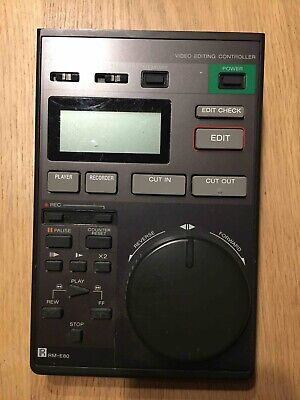 Sony Video 8 Video Editing controller RM-E80 Unused.  Sony user guide.