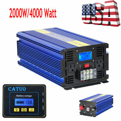 Aluminum Car Converter 2000W/4000 Watt Modified Sine Wave Power Inverter LCD
