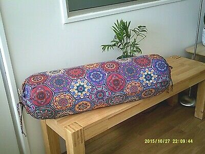 Pillow Cover Mandala Yoga Meditation Bolster Cover Round Cylinder Cushion Cover