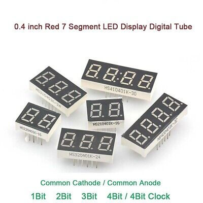 0.4 inch Red 7 Segment LED Display Digital Tube 1/2/3/4 Bit Common Cathode/Anode