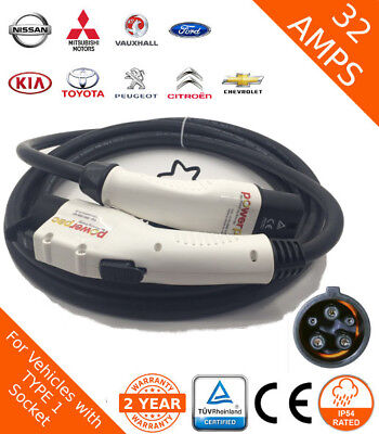 Mitsubishi Compatible Fast Charging Lead Type 1 (J1772) 32Amp 5m Cable