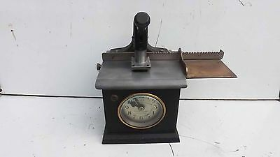 Clocking in clock small & rare with verge escapement movement