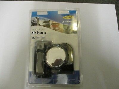 Ring Automotive 12 Volt Loud Compact Twin Air Horn