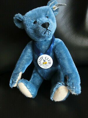 STEIFF CLUB TEDDY BLAU 1908 / 1994 EAN 420047 35 cm K/F/BUTTON/Z/Karton