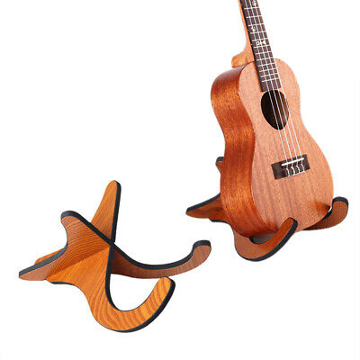 2x Portable Fold Electric Acoustic Bass Guitar Stand Floor Rack Holder Wood/PVC