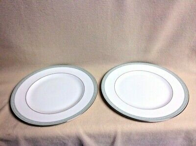 "2 WEDGWOOD MILLENNIUM Bone China Dinner Plates~JULIET~10 3/4"" dia England"
