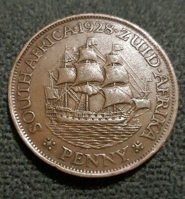 1928 South Africa One Penny