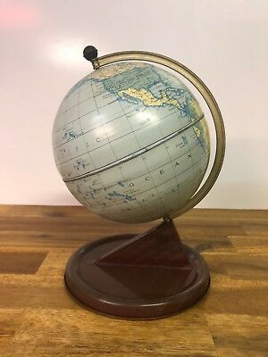 Vintage Chad Valley Tinplate World Globe Made In England
