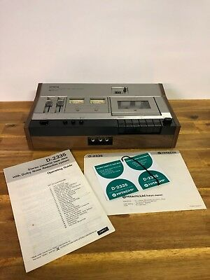 Vintage Hitachi Stereo Cassette Tape Deck D-2335 Dolby System With Manuals