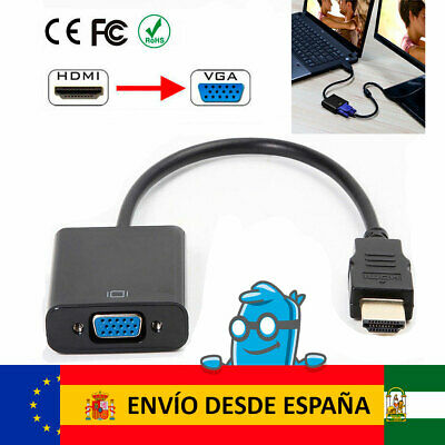 Conversor Cable Adaptador HDMI Macho a VGA Hembra | HDMI to VGA 1080p