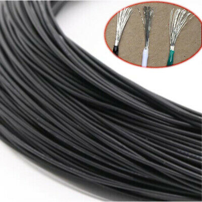 Black Electronic Wire Flexible Stranded Cable Cord Tin Copper UL1007 16~30AWG