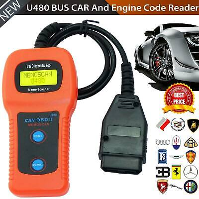 Car Engine U480 Auto Fault Code Reader OBD2 Scan Tool Diagnostic Scanner