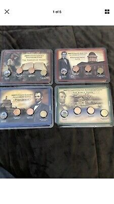 2009 Ultimate Lincoln Anniversary Cents Showpak Collection Complete Bu/Unc Set!