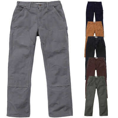 Carhartt Mens Double Front Triple Stitch Straight Work Pants Trousers