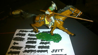 Elastolin 7 cm Norman with lance on horseback #8855 (perfect condition)