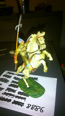 Elastolin 7 cm Norman riding with spear #8886 (perfect condition)