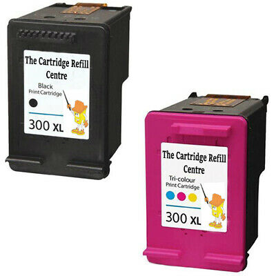 HP 300 XL Black + Colour Cartridges For F4500 F4580 F4583 Remanufactured Inkjet