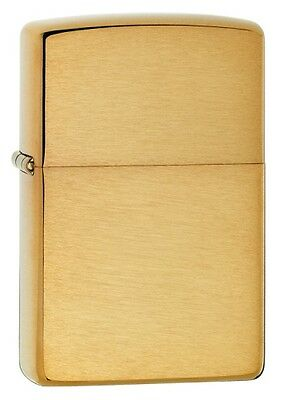 Brushed Solid Brass Zippo 204  Free  United Kingdom.   Shipping.----------------