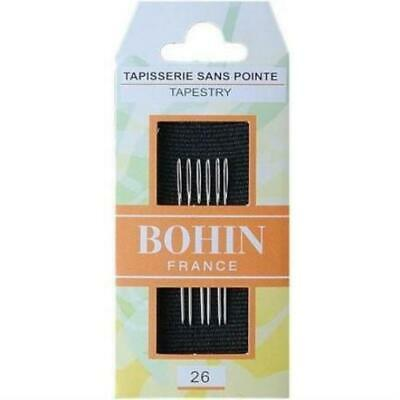 Bohin Size 26 Blunt End Tapestry Needles