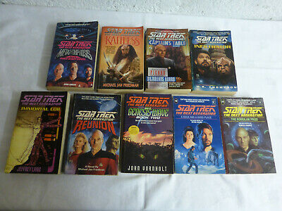 Star Trek The Next Generation x9 Novels - Mixed Editions