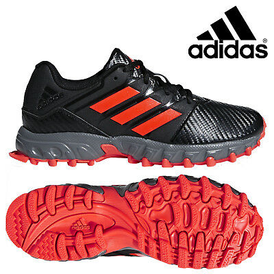 adidas Field Hockey Lux Pro Junior Shoes Kids Boys Girls Black Red Trainers SALE